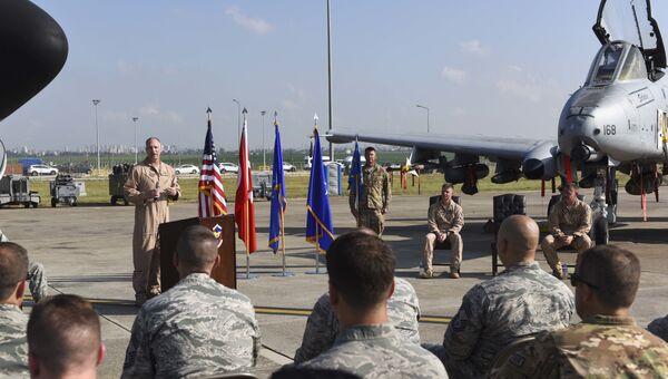 Военнослужащие ВВС США на авиабазе Инджирлик, Турция. Архивное фото
