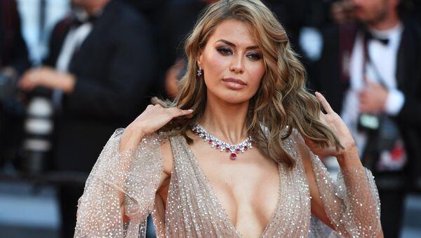 Телеведущая Виктория Боня на красной дорожке церемонии закрытия 71-го Каннского международного кинофестиваля