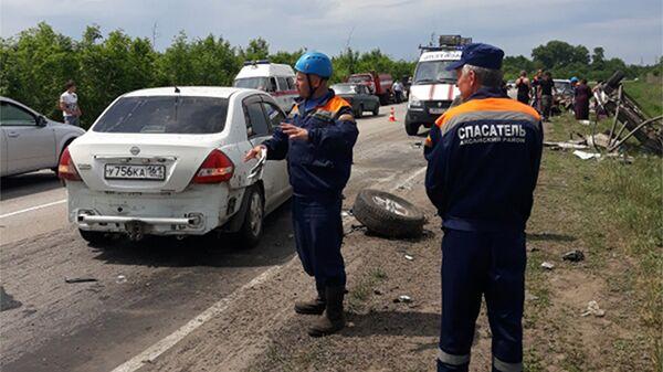 ДТП с участием 3-х легковых автомобилей на автодороге Ростов-Волгодонск. 20 мая 2018