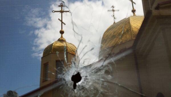Последствия нападения на церковь Архангела Михаила в Грозном