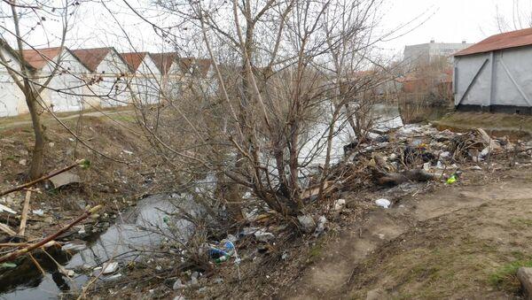Место обнаружения тела девочки в городе Канаш, республики Чувашия
