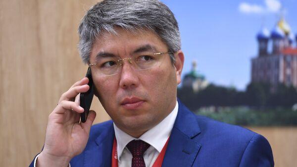 Глава Республики Бурятия Алексей Цыденов на Петербургском международном экономическом форуме. 24 мая 2018