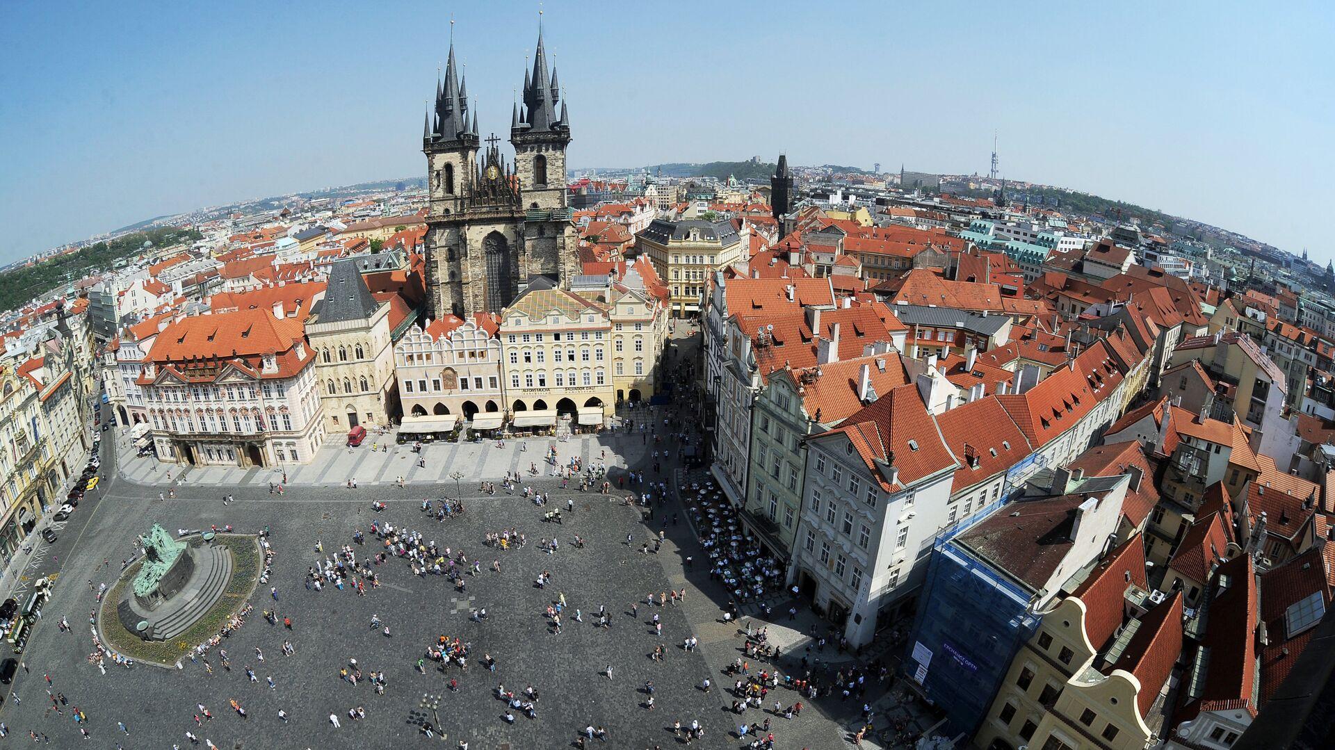 Вид на Староместскую площадь в Праге - РИА Новости, 1920, 06.05.2021