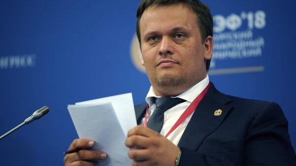 Губернатор Новгородской области Андрей Никитин на Петербургском международном экономическом форуме. 24 мая 2018