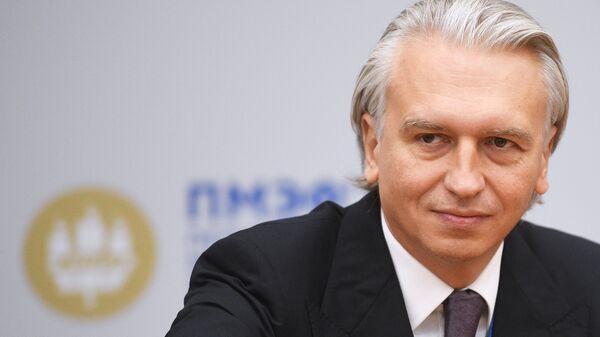 Генеральный директор ПАО Газпром нефть Александр Дюков на Петербургском международном экономическом форуме. 25 мая 2018
