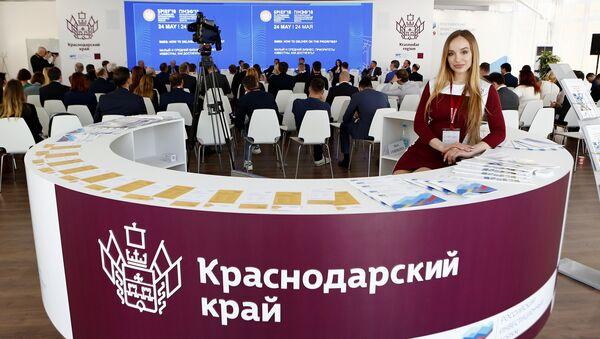 Всего в основные дни проведения ПМЭФ-2018  павильон Краснодарского края посетили более трех тысяч человек