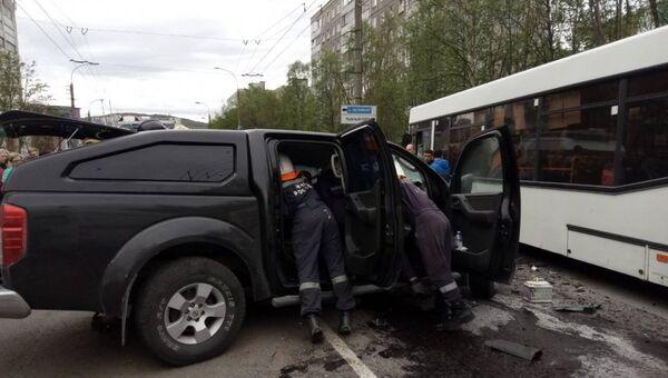 ДТП с автобусом в Мурманске. 28 мая 2018