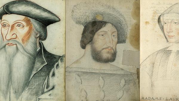 Портреты Франциска I, канцлера Гийома Пуайе и королевы Луизы Савойской