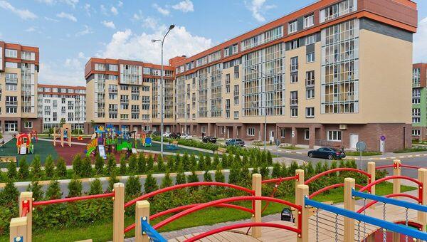 Детские площадки во дворах жилого микрорайона Красногорский