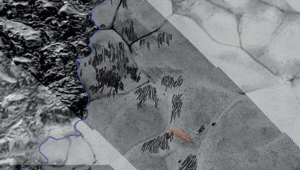 Дюны, открытые на поверхности Плутона зондом New Horizons