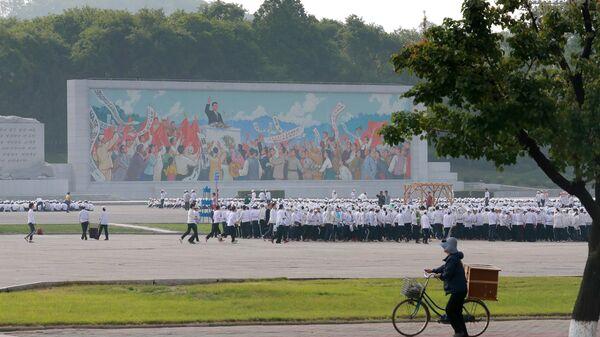Панно Речь Ким Ир Сена в Пхеньяне