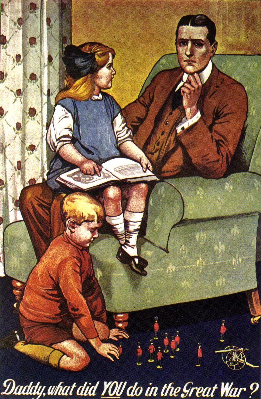 Агитационный плакат времен Первой мировой войны. Великобритания, 1915