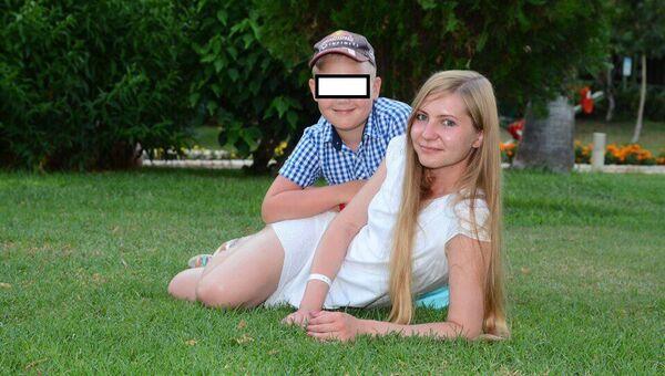 Елена Верба вместе с сыном