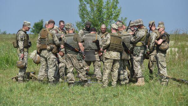 Украинские военные на Яворивском полигоне во Львовской области