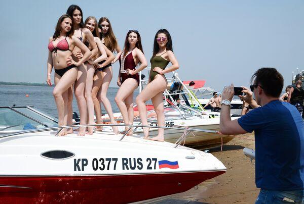 Во время открытия летнего сезона Aquafest 2018 в Хабаровске