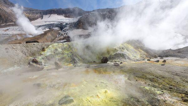 Кратер Мутновского вулкана на Камчатке