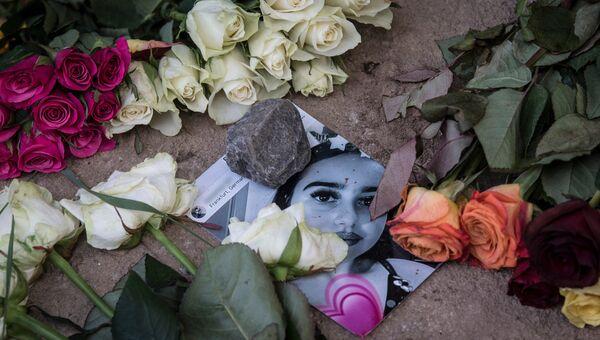 Фотография Сюзанны Фельдман, убитой мигрантом в Висбадене, Германия