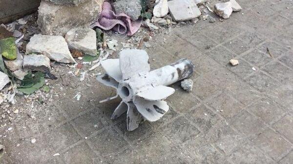 Последствия минометного обстрела жилого района города Алеппо