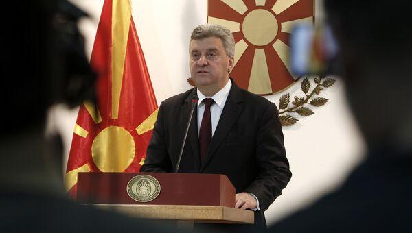 Президент Македонии Георге Иванов во время пресс-конференции. Архивное фото