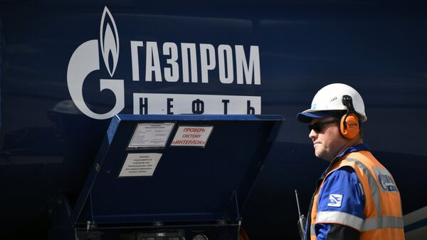 Автоцистерна компании Газпром Нефть