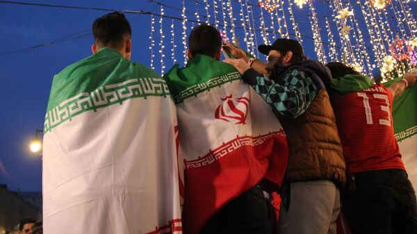 Иранские болельщики в центре Москвы. 14 июня 2018