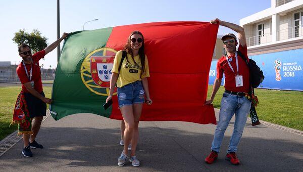 Болельщики сборной Португалии перед матчем группового этапа чемпионата мира по футболу между сборными Португалии и Испании