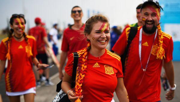 Футбольные болельщицы испании