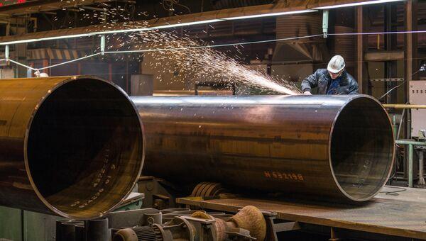 Производство труб для строительства газопровода Северный поток-2. Архивное фото