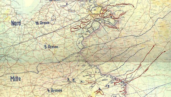 Трофейная карта План Барбаросса. 22 июня 1941