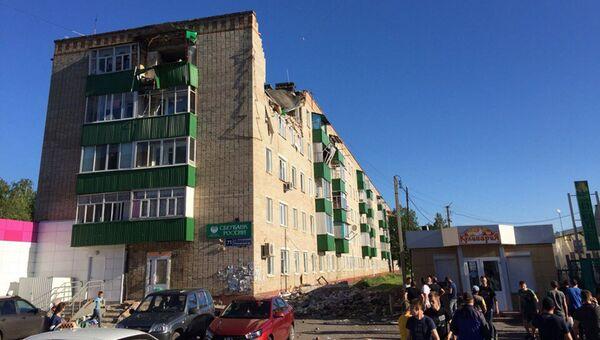 Последствия взрыва газа в жилом доме в городе Заинск в Татарстане. Архивное фото