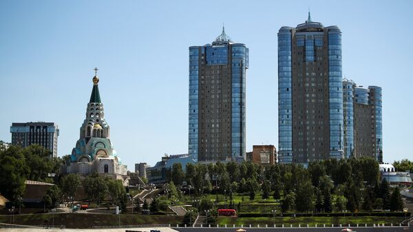 Вид на Самару с реки Волга