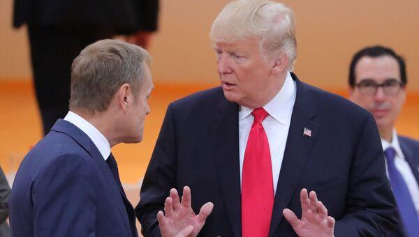Председатель Европейского совета Дональд Туск и президент США Дональд Трамп. Архивное фото