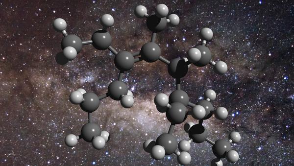Так художник представил себе молекулу углеводорода в космосе