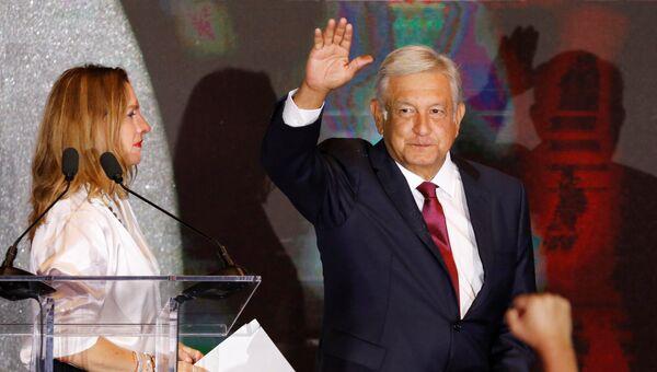 Победитель президентских выборов в Мексике Андрес Мануэль Лопес Обрадор. Архивное фото