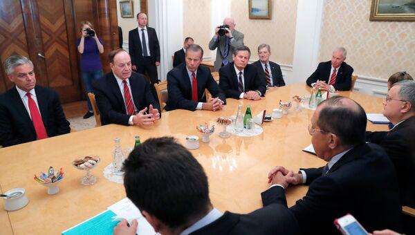 Конгрессмены США во время встречи с Сергеем Лавровым. 3 июля 2018