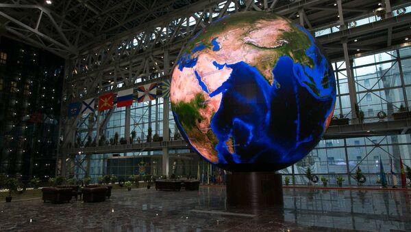 Самый большой в Вооруженных Силах сферический светодиодный экран в Национальном центре управления обороной РФ