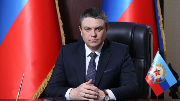Глава самопровозглашенной Луганской народной республики Леонид Пасечник