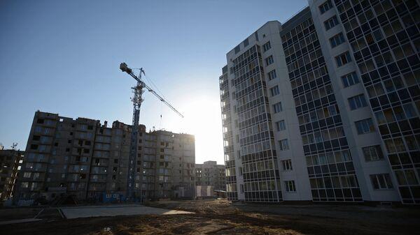 Строительство домов в городе Циолковский Амурской области. Архивное фото