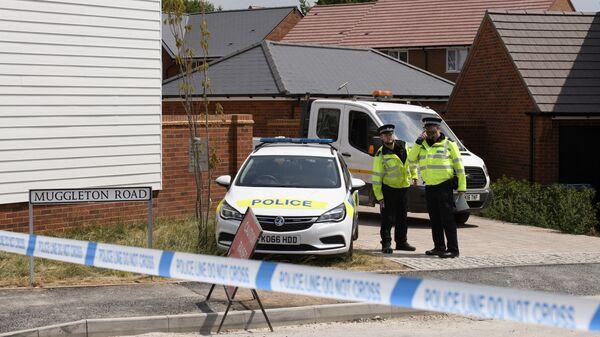 Полицейские у дома жертвы отравления в Эймсбери. Архивное фото