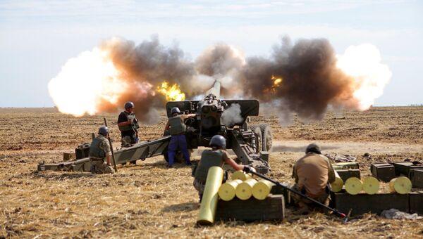 Военные учения на Украине. Архивное фото