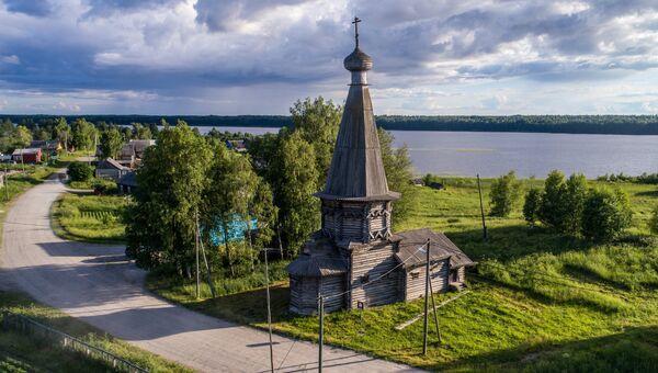 Церковь Александра Свирского в деревне Космозеро. Архивное фото