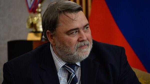 Руководитель ФАС РФ Игорь Артемьев в резиденции Главы Чеченской Республики в Грозном. 9 июля 2018