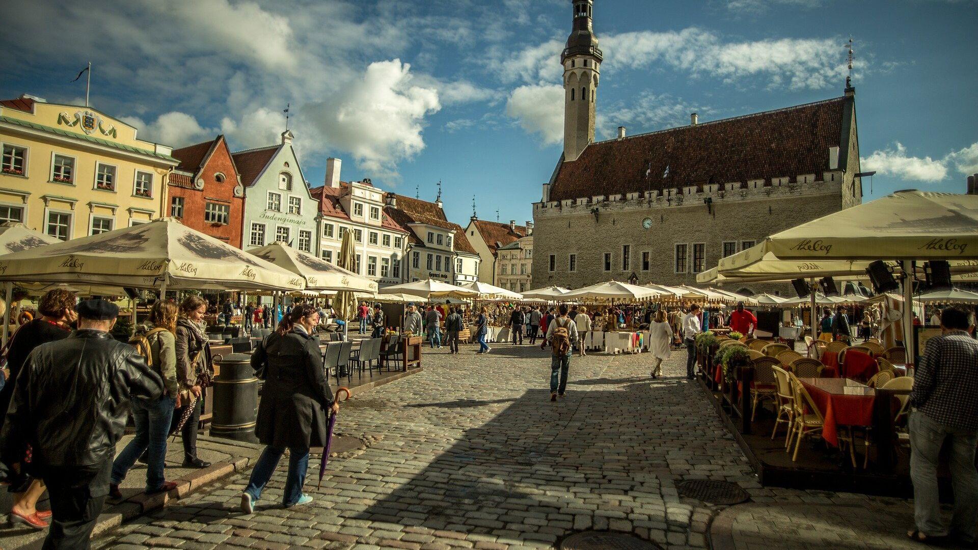Исторический центр Таллина, Эстония  - РИА Новости, 1920, 17.07.2021