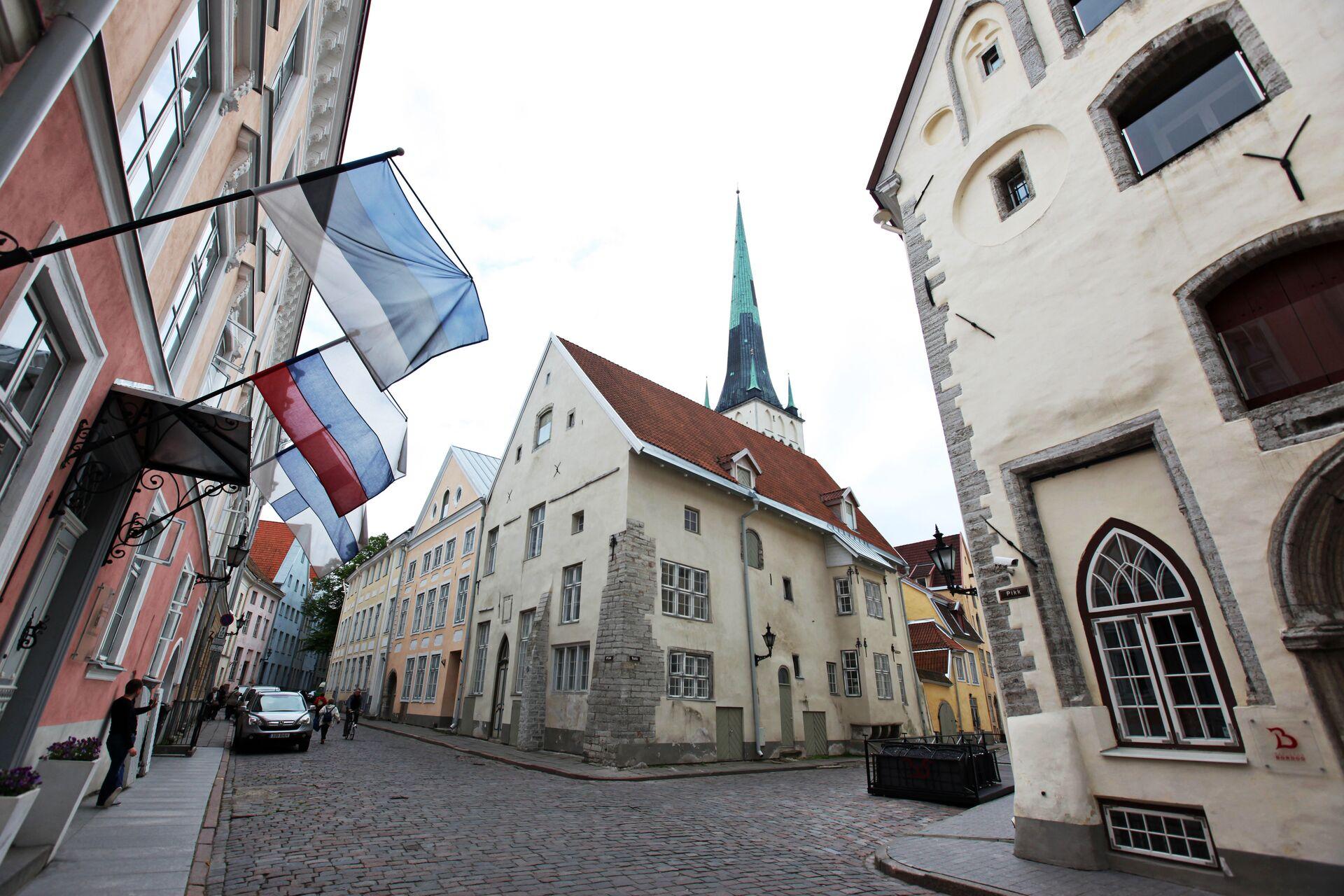 Флаги России и Эстонии в Таллине  - РИА Новости, 1920, 24.02.2021
