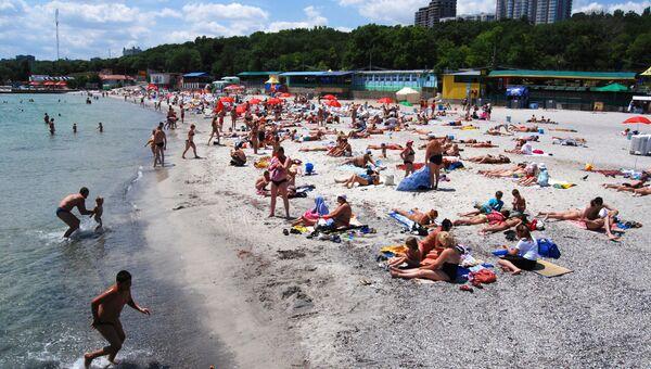 На пляже Ланжерон в Одессе