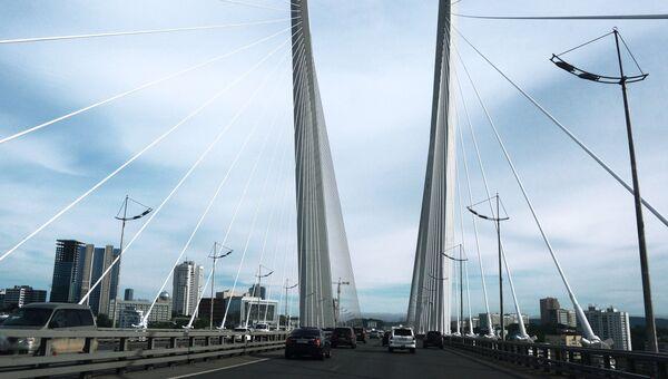 Вантовый мост во Владивостоке через пролив Босфор Восточный. Архивное фото