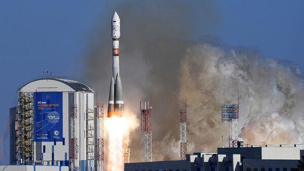 Старт ракеты-носителя с космодрома Восточный. Архивное фото