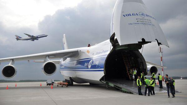 Самолет АН-124-120 Руслан компаний Волга-Днепр и AirBridgeCargо