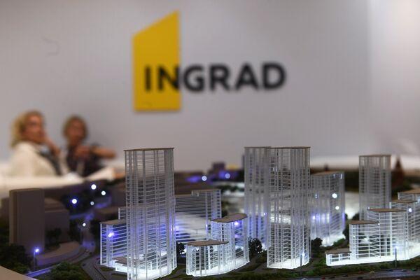 Инновационный стенд компании Инград на Московском урбанистическом форуме в парке Зарядье в Москве