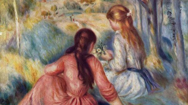 Картина Пьера Огюста Ренуара Девушки на лугу